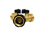 Gilmour,13, Brass Y-Connector, Heavy-duty solid brass, Twin shut-off valves