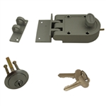 GUARD SECURITY, 1303SN, Dull Chrome, Jimmy Proof Single Cylinder Deadlock Deadbolt With Angle and Flat Strike, Boxed