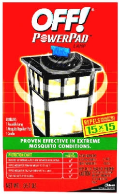 S C Johnson Wax, 14157, Off! Powerpad Lamp, 1 Reusable Lamp, Candle