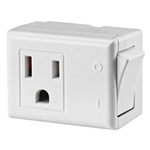 Leviton, 1470-W, White, 15 Amp 125 Volt AC 3 Wire Grounded Switch Tap with On / Off Button