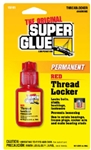 Super Glue Corp/Pacer Tech, 15191, 6 ML, Permanent Red Thread Locker, Locks Bolts, Etc.