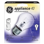 Ge Lighting, 15206, 40 Watt Clear, Appliance & Oven Service Light Bulb