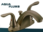 Aqua Plumb, 1554002, Satin Nickel Finish, 2 Lever Handle Bathroom Lavatory Faucet, With Pop Up
