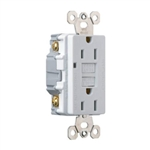 Pass & Seymour, 1594WCC10, 15A, 125V, White, 2 Pole, 3 Wire Grounding, Premium GFCI Outlet
