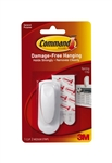 3M Command, 17005, White, Single Spring Clip With Command Adhesive