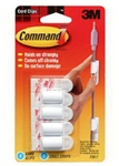 3M Command, 17017, 4 Pack, Wire Cord Clip With Command Adhesive