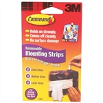 3M, 17200CL, 16 Pack, Replacement Adhesive Strips With Command Adhesive