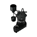 Pentair Water Master Plumber, 176950, 1/3 HP, Cast Iron & Zinc Motor Housing, Automatic Submersible Sump Pump With Vertical Switch