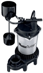 Pentair Water Master Plumber 176951 1/2 HP Cast Iron & Zinc Sump Pump With Vertical Switch