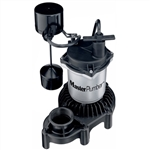 Pentair Water - Master Plumber 176953 1/3 HP Zinc & Plastic Mechanical Submersible Sump Pump With Vertical Switch