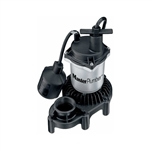 Pentair Water Master Plumber, 176958, 1/3 HP, Zinc & Plastic, Submersible Automatic Sump Pump