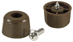 "Shepherd 19137 4 Pack 3/4"" Brown Plastic Screw Bumpers"