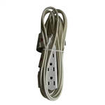PCC, 19706, 6', 16/3 SJTW, Grey 3 Outlet Appliance Extention Cord Power Center