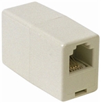CONECT IT 20-503 Ivory Modular Phone In-Line Coupler