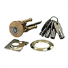 Promag II, 200, Solid Brass Tubular Rim Cylinder With 4 Tubular Keys