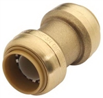 "EZ-Bite 2012008 1"" x 1"" Coupling (Like Sharkbite) Push Fit Fitting For Use With Copper Tubing CTS, CPVC & Pex"