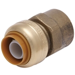"EZ-Bite 2012046 1"" x 1"" Female Iron Pipe Connector, (Like Sharkbite) Push Fit Fitting For Use With Copper Tubing CTS, CPVC & Pex"
