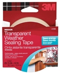 "3M, 2110, 1-1/2"" x 30', Adhesive, Interior Transparent, Weatherproofing Sealing Tape"