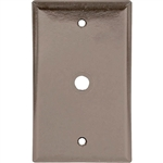 Cooper Wiring, 2128B, 1 Gang Telephone & Coax Thermoset, Wall Plate, Brown
