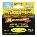 "Arrow, 225, 5000 Pack, 5/16"" Staple, For P22 Plier Staple Gun"