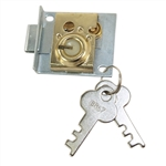 Bommer, 25389, Mail Box Lock Old Style, Letter Box Lock Square 921 Style 3 Pin Tumbler Steel Key