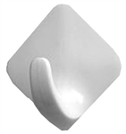 Spectrum Diversified, 27100, 4 Count, White, Small, Magnetic Diamond Hook, ABS Plastic