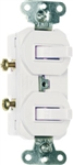 Cooper Wiring Devices 271W 15-Amps 120/277-Volt Traditional Heavy Duty Grade Two Single-Pole Switches, White