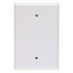 Cooper Wiring Devices, 2729W, Plastic Blank 1-Gang White Oversize Wall Plate