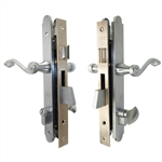 Marks Thinline Slim Line, 2750B/26D, Satin Chrome, Right Hand, Mortise Entry Lever Plate Trim Set Lockset Single Cylinder Lock Set
