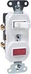 Cooper Wiring, 277W-BOX, 15A, 120/125V, White, Single Pole Switch & Pilot Light, Duplex