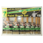 Painters Guild 2800/7 7 Piece Polyester Paint Brush Set
