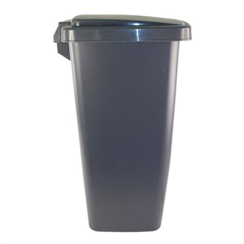 Wonderful RUBBERMAID, 2841 87 CYLIND, 33 Qt Step On Cylinder Gray Plastic Kitchen  Wastebasket, Trash Garbage Can