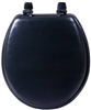 Sanderson Plumbing, 3000WB-BLK, Black Padded Toilet Seat, Heavy Duty Leather Grained Vinyl