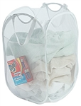 Pro Mart Dazz 3016115 Pop Up Hamper With Reinforced Corners, White Mesh Polyester