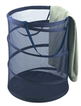 Pro Mart 3089034 Spiral Pop Up Laundry Hamper, Blue Mesh Polyester