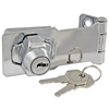 "Ultra Hardware, 31800, 3"" Polished Chrome Key Cylinder Keyed Hasp Lock"