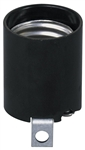 Leviton, 3352-F, Medium Base, One-Piece, Keyless, Incandescent, Phenolic Lampholder, Black
