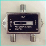CONECT IT, 35-177X, 2 Way Coaxial Cable Switch, 75 ohm, 2 Input, 1 Output