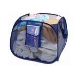 Pro Mart 3566074 Blue Pyramid DAZZ Deluxe Pop Up Hamper With Carry Handle & Pockets