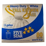 FIVE STAR, 3721375, 13GL TALL KITCHEN BAG DRAW STRING 80CT