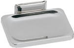 "Decko Bath Products, 38000, Wall Mount Soap Dish, 4-1/2"" x 3-1/2"", Chrome Plated"