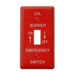 Mulberry, 41001, Red, 1 Gang, Single Toggle Switch, Emergency Oil Burner On / Off, Wall Plate