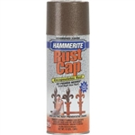 Hammerite Rust Cap 41120 12 OZ Brown Metal Hammered Finish High Gloss Spray Paint