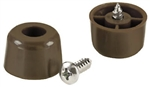 "Brainerd, 434XC, 4 Pack, 7/8"" x 1/2"", Brown Plastic Screw Bumpers"