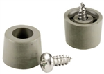 "Brainerd, 436XC, 4 Pack, 1/2"" x 1/4"", Gray Plastic Screw Bumpers"