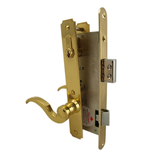 Ultra Hardware 44625 Brass Right Hand Single Cylinder Mortise