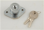Ultra Hardware, 44824, Keyed Cabinet & Drawer Lock In Chrome Plated