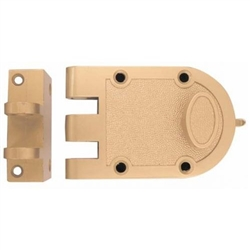 ULTRA Brass Jimmy Proof Single Cylinder Lock With Angle Strike, Boxed