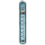 Phillips, S10045000112/17, 6 Outlet, Translucent Surge Protector With Automatic Shutdown Protection, 470 Joules