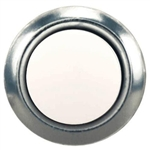 HeathCo, 455A, Lighted White Round Chime Button With Silver Pearl Rim